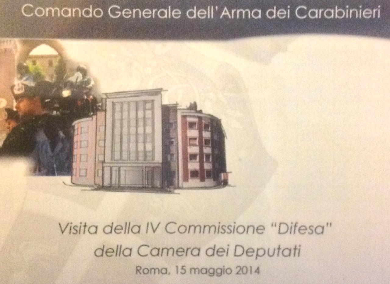 Al comando generale dell 39 arma dei carabinieri visita for Commissione difesa camera
