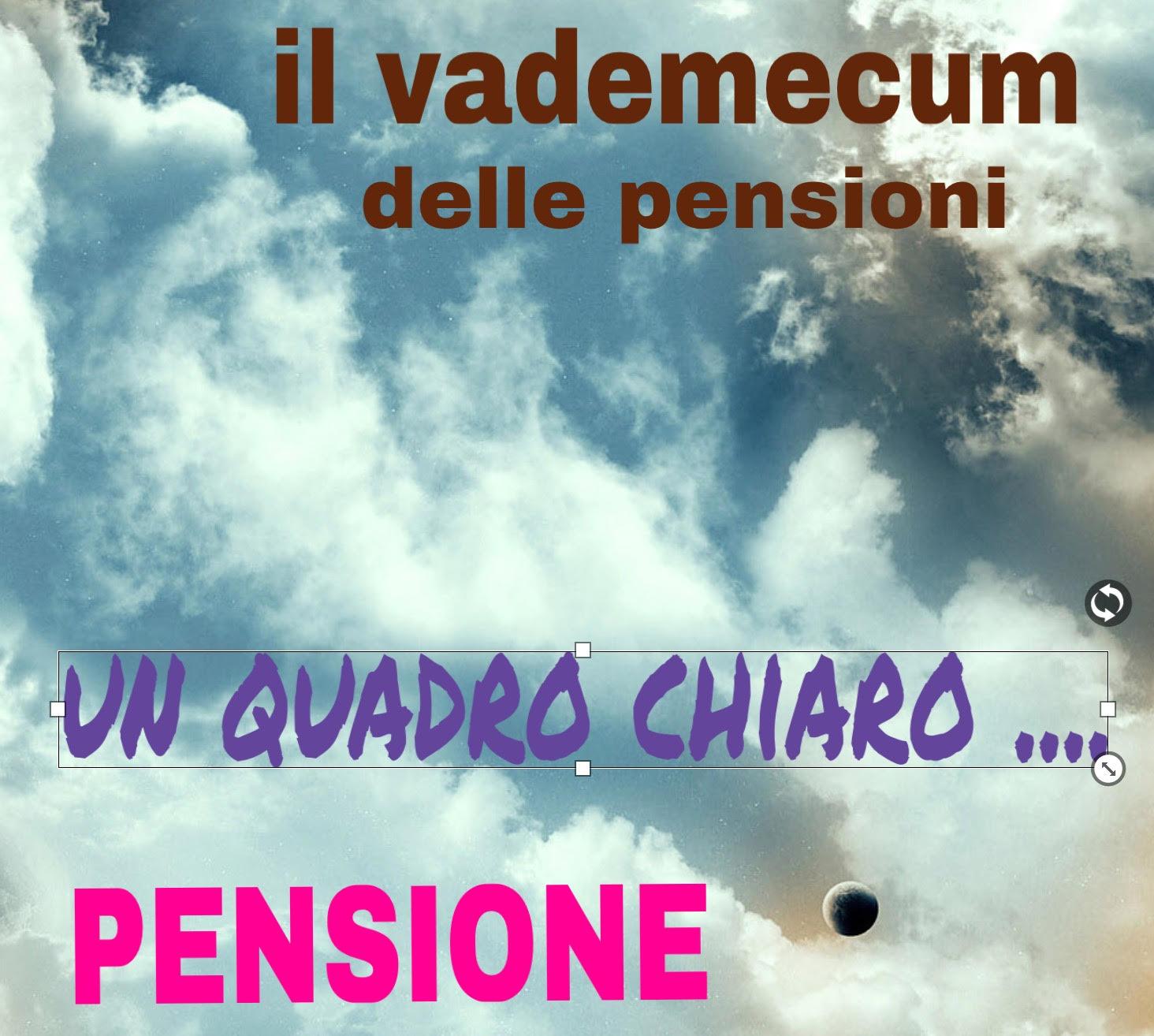 Le pensioni ecco il vademecum pensionistico che fa 39 un quadro chiaro sulla materia news - Finestre mobili pensioni ...